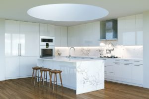 New Contemporary White Kitchen Interior